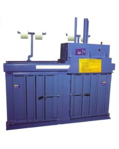 small multi-chamber baler, waste recycling, waste baler
