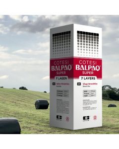 Cotesi balpaq bale stretchwrap black, agricultural packaging