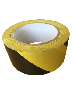 vinyl hazard tape, yellow and black tape